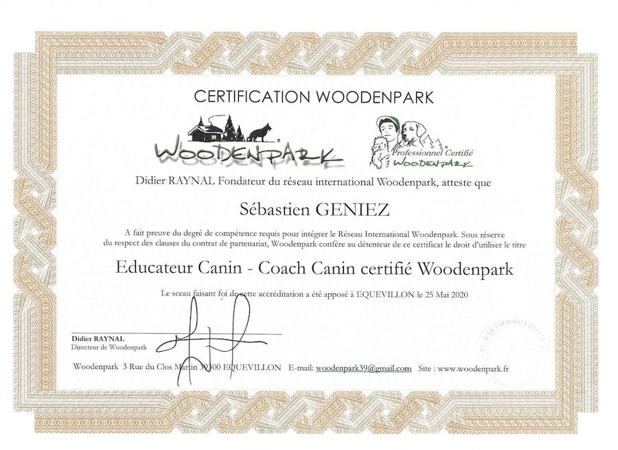certification woodenpark éducateur