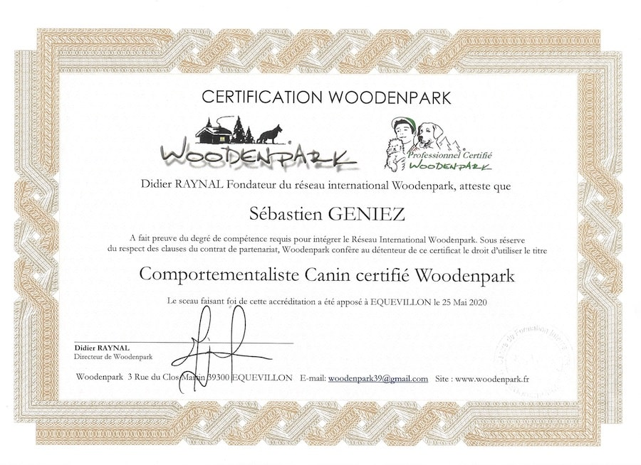 Certification woodenpark comportementaliste